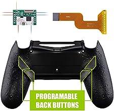 eXtremeRate Dawn Programable Remap Kit PS4 Scuf Reasignación de Botones para Playstaion 4 con Mod Chip&Carcasa Trasera&4 Botones Traseros Compatible con PS4 JDM 040/050/055(Salpicaduras Negras)