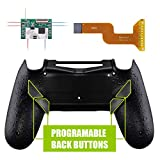 eXtremeRate Textured Black Dawn Programable Remap Kit for PS4 Controller with Upgrade Board & Redesigned Back Shell & 4 Back Buttons - Compatible with JDM-040/050/055 - Controller NOT Included