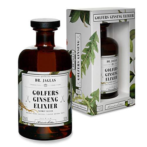 Dr. Jaglas Golfers Ginseng-Elixier | Klosterapotheken-Spiritus als Einzelflasche mit 500 ml | 35% Vol