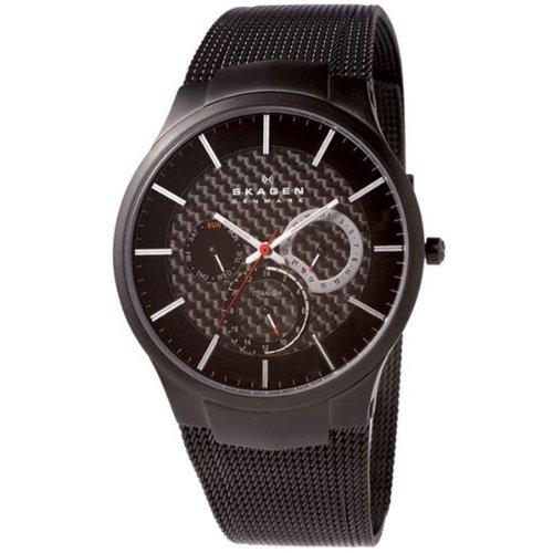 Skagen Herren-Armbanduhr XL Analog Quarz Edelstahl beschichtet 809XLTBB