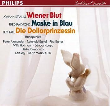 Wiener Blut - Maske in Blau - Die Dollarprinzessin