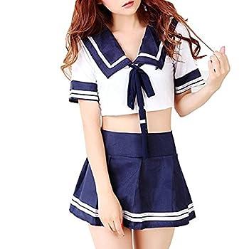 M_Eshop Sexy Schoolgirl Lingerie Set Sailor Uniform Dress Cosplay Japanese School Girls Costumes  4XL