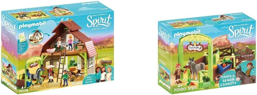 Playmobil Spirit 70124 ° 9481 ° 80790 Spirit Xmas Magazin mit Lucky und Karotte