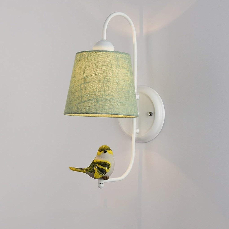Zhang Yan ZYY Nordeuropa Modernes minimalistisches Schlafzimmer Nachttischlampe Wandleuchten Creative Birdie Wohnzimmer Gang Treppenleuchten E27 Nachttischlampe