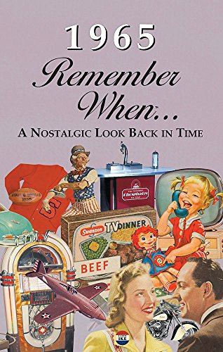 1965 REMEMBER WHEN CELEBRATION KARDLET: Birthdays, Anniversaries, Reunions, Homecomings, Client & Corporate Gifts