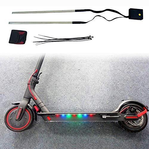 ~ La Bici De Ciclo Colorido Luz De Tira para M365 Pro Scooter Eléctrico 3 Modos Vespa Chasis Luz De La Noche Llevó La Luz De Tira De Bicicletas Gadget Accesorios para Herramientas