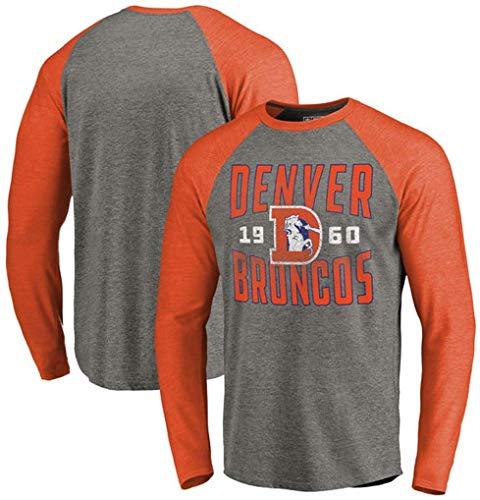 YB-DB NFL Rugby Denver Broncos American Football Hoodie Hülsen-Pullover Langarm-Druck Herbst-Winter-beiläufige Sweatshirt,3XL (185cm~190cm)
