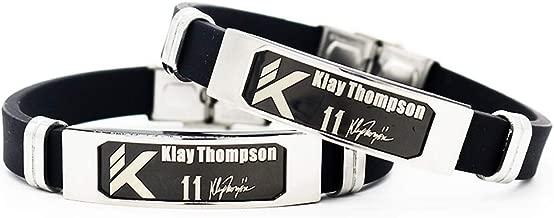 FANwenfeng Basketball Team Star Inspirational Signature Adjustable Wristbands Fans Sport Silicone Bracelet 2 Pcs