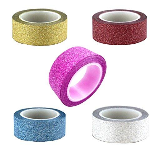 super17985piezas DIY brillante álbumes de adhesivo cinta adhesiva decorativa washi papel