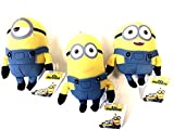 Universal Conjunto Completo de 3 Minions 15cm - Kevin, Stuart e Bob - Original Officiel