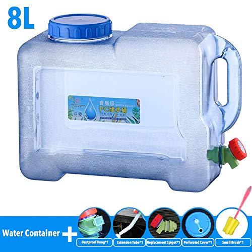 pegtopone Outdoor Wasserbehälter Glasballon mit Zapfen, wasserkanister mit hahn BPA frei zusammenklappbarer Wasserbehälter Camping Wasserspeicherträger Krug Faltbarer tragbarer