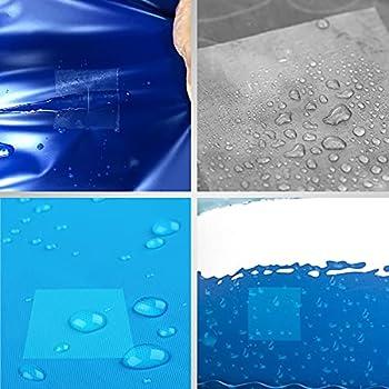 Larcenciel 20 Pièces Piscine Patchs Réparation Tente Autocollant réparation Ruban Auto Adhésif Patches Transparent Rustine étanches pour Sacs à Dos Veste Auvents Canots Pneumatiques et Matelas