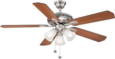 Hampton Bay Glendale 52 In. Brushed Nickel Ceiling Fan