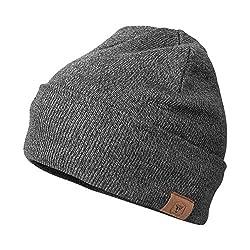 cheap OZERO Winter Beanie Daily Hat Warm Fleece Skull Ski Stockings Men's  Women's Gray