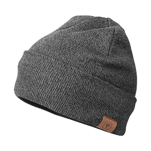 OZERO Winter Beanie Daily Hat Warm Polar Fleece Ski Stocking Skull Cap for Men and Women Gray