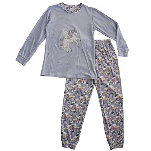 FERETI Pijama Unicornio Mujer Pony Caballo Caballitos Unicornios Franela Otoño Invierno