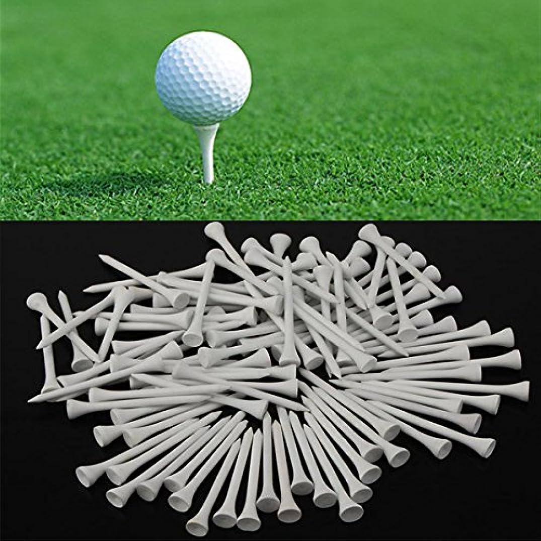 戦争比べるコウモリattachmenttou 100個/セット70mmウッドゴルフティー, ゴルフクラブ用ドライビングレンジマットホルダー, ゴルフ用アクセサリー,