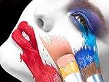 N / A Labios Rojos Figura de Mujer Moda Pintura al óleo sobre Lienzo para Carteles e Impresiones utilizados en Arte Imágenes de la Sala sin Marco 30x45 cm