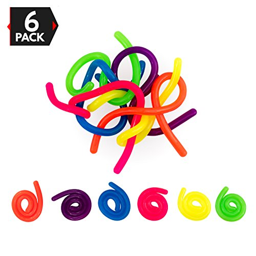 Big Mo's Toys Stress Reliever - Sensory Relief Anxiety Tactile Toy Fidget for Adults and Kids - 6 Strings
