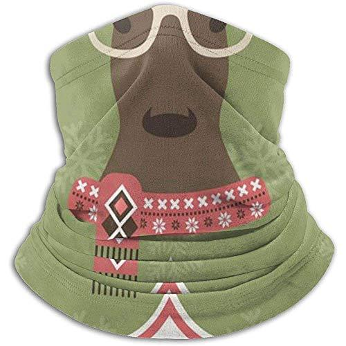 Giles John Calentador De Cuello Gaiter Christmas Deer Mascarilla A Prueba De Viento para Snowboard De Esquí