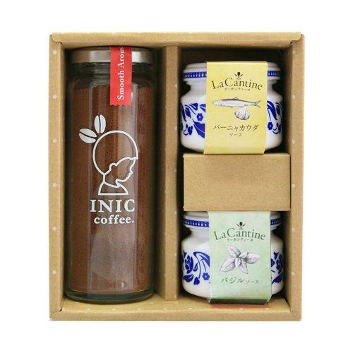 BRUNCH Party Petit Gift 〔コーヒーギフト/フレンチ缶詰/ラカンティーヌ/バジルソース/バーニャカウダソース/インスタントコーヒー/アイスコーヒー/お歳暮/内祝い〕