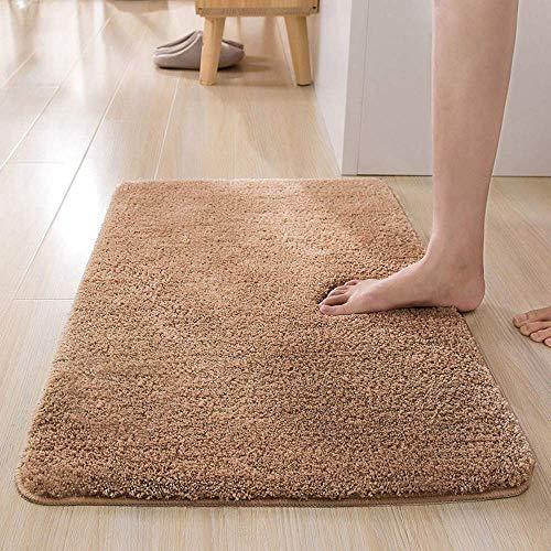 LiGG LiGG Badematte Anti Rutsch Badezimmerteppich Absorbent Badteppich Einfarbige Farbe Badvorleger Badematten Fußmatte (40 x 60 cm, Braun)