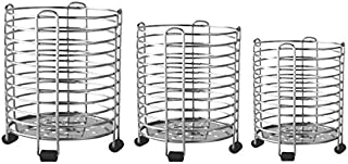 Stainless Steel Spoon/Utensil Holder Stand Combo Set (Round) set of 3