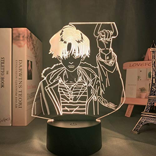 Lámpara acrílica 3d BL Anime Killing Stalking Yoon Bum Light para decoración de la habitación de la cama Luz de noche LED Killing Stalking Lamp Yoon Bum, 16 colores con control remoto