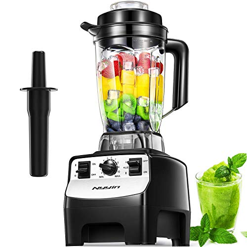 Nyyin Blender 2000W 10-Speed Smoothie Blender with 2L BPA-Free Tritan Container 33000 RPM 8 Blades in Stainless Steel 304 for Ice/Soup/Nuts