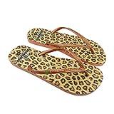 Chanclas de Playa Brasileras®,Printed 21 Tiger. Suela Antideslizante del 34 al 41. Mujer para Interior/Exterior. Zapatos Piscina Verano