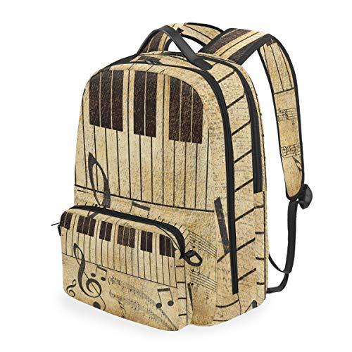 CPYang Mochila escolar con teclado de piano desmontable para hombro, portátil, para niñas, niños, mujeres y hombres