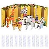 Toddmomy 1 Juego de Animales de Papel 3D Kit de Construcción de Papercraft Animal Salvaje Origami Modelo de Papel Trabajo Hecho a Mano Creativo Niños DIY Artesanía de Juguete