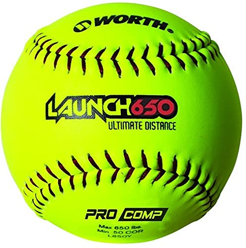 Worth Home Run Derby Ball,Yellow,Pack of 12