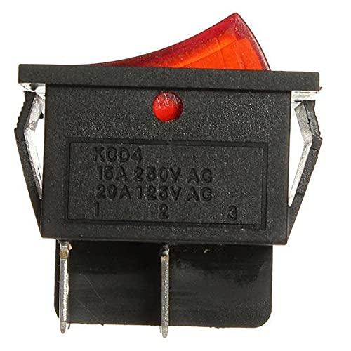 Módulo electrónico Red Light 4 Pin DPST ON-OFF Rocker Barco interruptor 13A / 250V 20A / 125V 5pcs Equipo electrónico de alta precisión