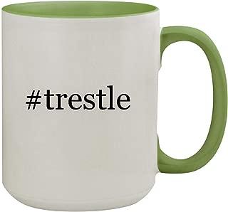 #trestle - 15oz Hashtag Ceramic Inner & Handle Colored Coffee Mug, Light Green