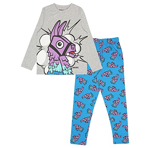 Fortnite Pyjamas Juego de Pijama, Blue/Heather Grey, 14-15 Years para Niños