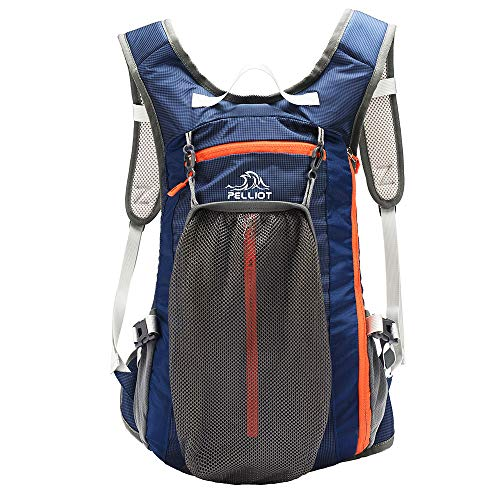 PELLIOT Bike Backpack, 20L Waterproof Cycling Bicycle Rucksack, Breathable Lightweight and Wear-resisting Running Backpack for Fitness Hiking Climbing Camping Skiing Trekking-Navy Blue