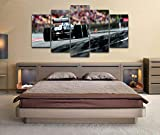 5 Panel Impresión en Lienzo Fórmula 1 Gp España Mercedcar Hamilton 5 Cuadros Modernos Impresión de Imagen Artística Digitalizada   Lienzo Decorativo para Salón o Dormitorio