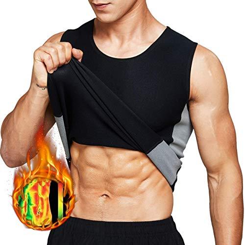 Tooklanet Camisetas Sudar Hombre Sin Mangas Neopreno Camiseta Reductora Compresion de Sauna Deportivo Entrenamiento Físico