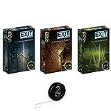 Lot de 3 Jeux EXIT de IELLO: Le Laboratoire Secret + Le Tombeau du Pharaon + La Cabane Abandonnée + 1 Yoyo Blumie