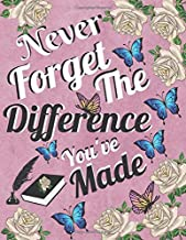 Never Forget The Difference You've Made: Inspirational Quote, Best Gift for Women. People Who Have Had a Great Impact on People's Lives.