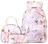 BLUBOON Teen Girls School Backpack Kids Bookbag Set with Lunch Box Pencil Case Travel Laptop Backpack Casual Daypacks (Pink)