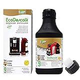 EcoDescalk Biologico Concentrato (9 Decalcificazioni). Decalcificante 100% Naturale. Detergente per Macchine da Caffè. Tutte le Marche. Prodotto CE.