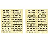 GOSONO 2pcs Guitar Note Map Fretboard Markers Fret Lables Decals Fingerboard Sticker For Aacoustic Guitar And Bass Guitar