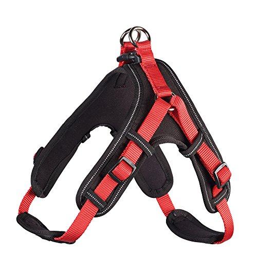 Geschirr Neopren Vario Quick 55 - 70 cm, rot/schwarz