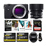 Sigma fp Mirrorless Digital Camera with 45mm Lens, 64 GB Extreme PRO SD Card, Spare Battery, and Software Bundle (4 Items)