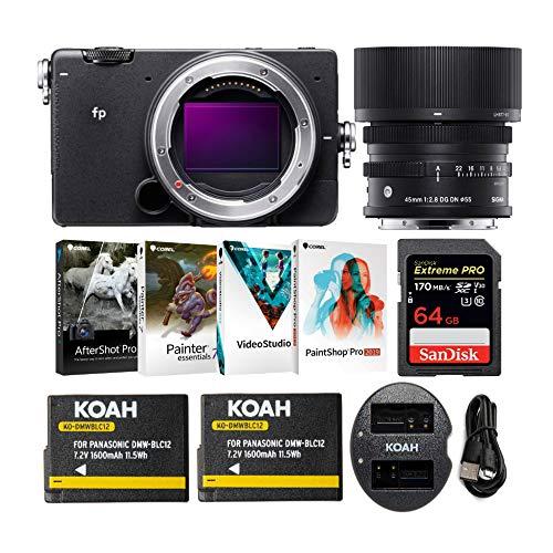 Sigma fp Mirrorless Digital Camera with 45mm Lens,...