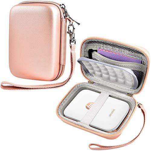 SAIKA Carrying Case Compatible with HP Sprocket Portable Photo Printer (2nd Edition) / Polaroid Zip Mobile Printer / Kodak Mini Shot Wireless 2in 1 / Lifeprint 2x3 Portable Box- Rose Gold
