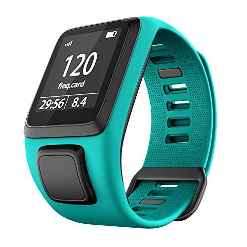 Shieranlee Watchband para Tomtom Watch, Silicone Waterproof Breathable Correa de Repuesto de Silicona de para Tomtom Runner 2/ Runner 3/ Spark/Golfer 2 Sports GPS Running Smartwatch