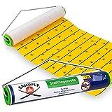 SAMUFLY Fliegenrolle Stallfliegenrolle gelb mit Metallhalter 7m x 30cm zum Aufhängen Fliegenfänger